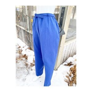 Vintage Blue High Rise Trousers Tapered